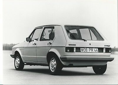 VW Volkswagen Golf MK1 GL Original Press Photograph + Notes Italian 1978
