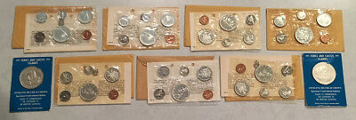 7 Canada Silver Mint Sets 1965(5)+1967(2) Plus 2 Other Big Silver Coins > No Rsv