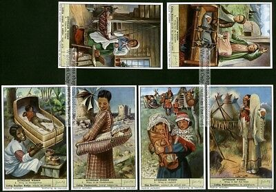 Baby  Carriers And Cradles From The Past SIX 50 Y/O Trade Ad  Cards