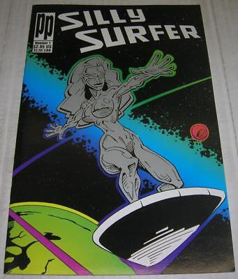 SILLY SURFER DELUXE #1 (Parody Press 1993) SILVER SURFER parody (FN/VF) RARE