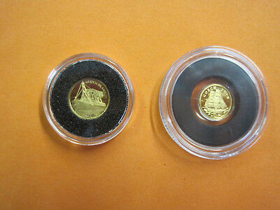 2 Goldmünzen - Gold 999 Gorch Fock 2008 + Deutschland III 2012 Cook Islands / 4