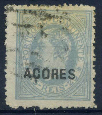 Azores 1880 Mi. 33 Used 80% overprinted 25 R, King Louis I