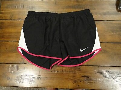 NWT Nike Dri-Fit 10K Womens Running Athletic Shorts Black White Pink Size Small
