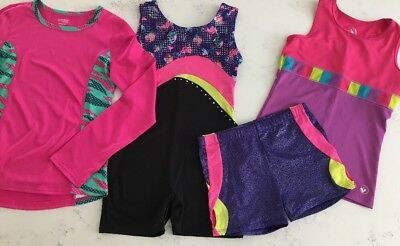 Lot of 4 Girls Freestyle Danskin & LimeApple Sport Dance Leotard - Clothing 7/8