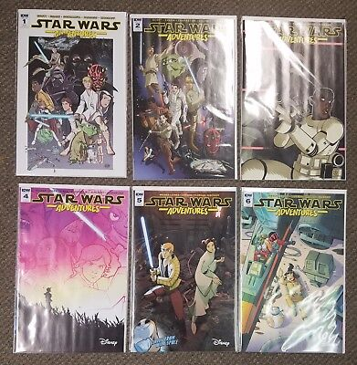 6 book lot STAR WARS ADVENTURES #1 2 3 4 5 6 RI Variant Covers IDW Comics set