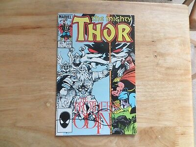 1984 Vintage Thor # 349 Signed By Walt Simonson, Story & Art With Poa