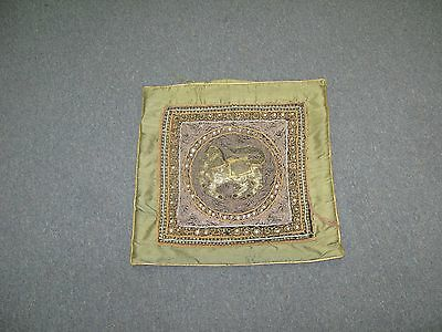 Tapestry Kalaga Burma Hand Made Sequin embroidery Pillow Cushion Cover Myanmar