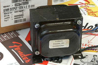 Genuine Fender Tone Master Output Transformer With 4/8/16 Taps 0026478000 NEW!