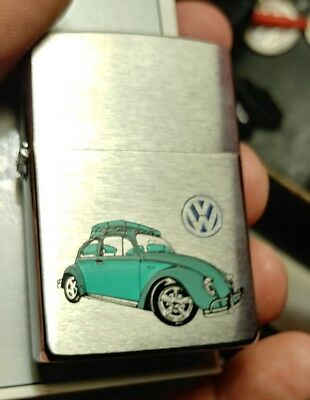 1996  Zippo Lighter VW Volkswagon Bug 2 tone custom  Great Art New in Box