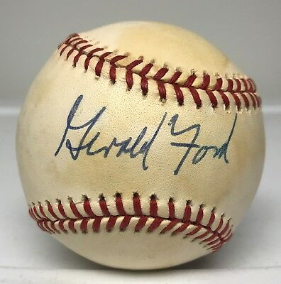 President Gerald Ford Signed Baseball AUTO TRISTAR COA + PSA/DNA Sticker ONLY