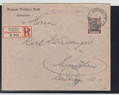1904 R-Brief Jerusalem Mit 2 Pia. Germania Nach München