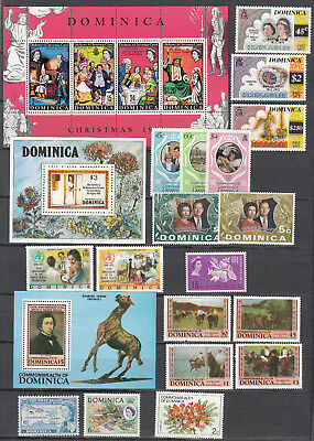 Dominica - small stamp collection - MNH