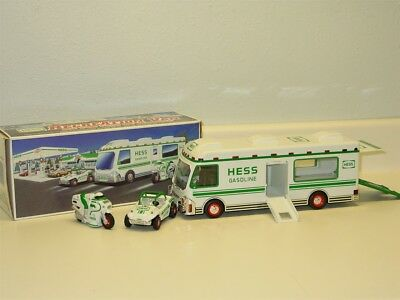 1998 Hess Recreation Van with Dune Buggy and Motorcycle in Box, Toy Vehicles