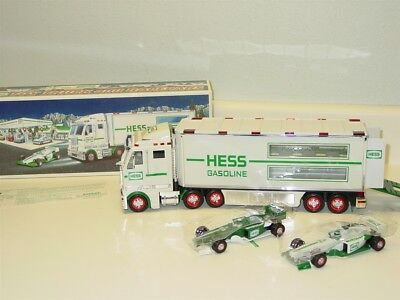 2003 Hess Toy Truck and Racecars in Original Box w/Instructions, Toy Vehicle