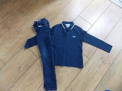 Boys Hugo Boss Polo Shirt Next Skinny Jeans Age 6 Years