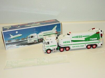 1999 Hess Toy Truck and Space Shuttle with Satellite, Original Box, Toy Vehicle