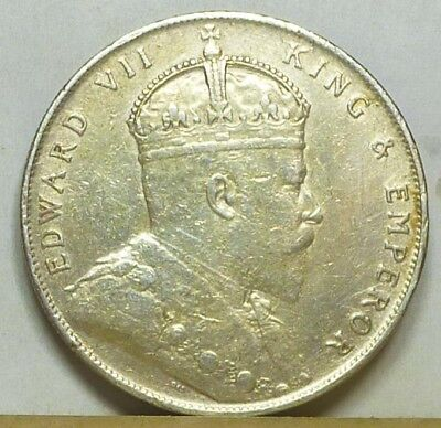 Straits Settlements Dollar 1909 Very Fine NO RESERVE