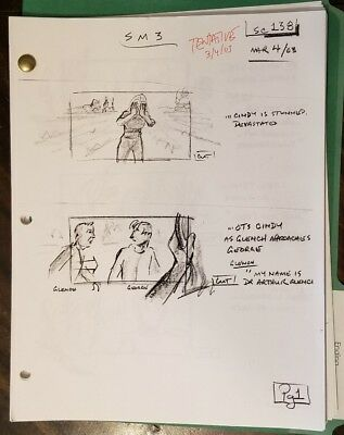 """58 PAGES """"Tentative"""" Story-Boards 2003 Scary Movie Ending Original Scenes 138-51"""
