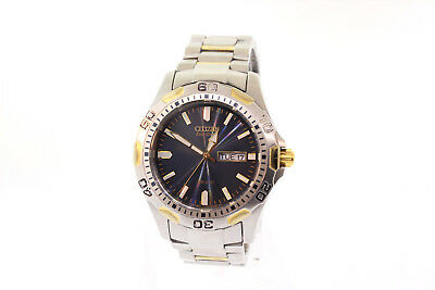 Men's Citizen BM8424-51L Eco-Drive Two-Tone Stainless Blue Dial Day Date Watch