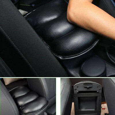 Soft Pad Cushion Car SUV PU Armrest Console Center Box Cover Wear Durable Black