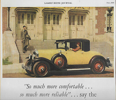 Rare 1929 Buick Autos For Women & Maxwell House Coffee Magazine Ads; Great Shape