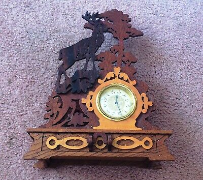 """Vintage Westclox """"tiny Tim"""" Made In Canada In Wooden Frame With Drawer (Ma)"""