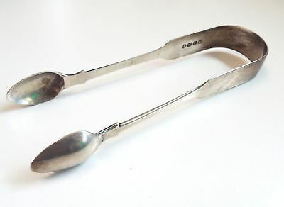 Antique Solid SILVER James Payne JP Sugar Tongs With Duty Mark Date c.1827 - F21