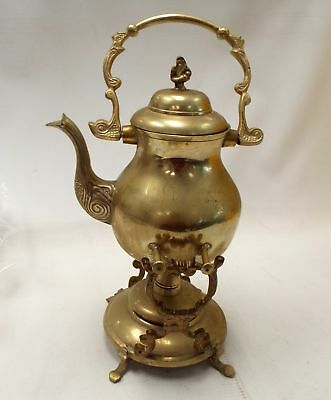 Vintage BRASS TEAPOT / KETTLE With Stand And Burner - B86