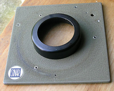 genuine Sinar Norma lensboard 18mm top hat  50.4mm hole -----holes as shown
