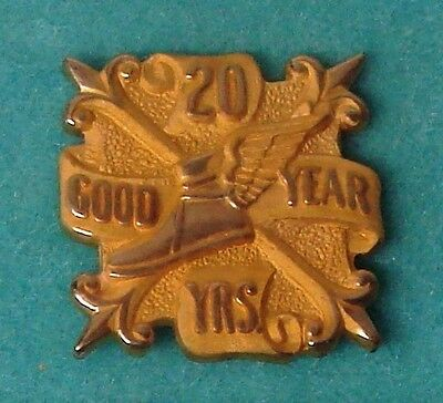 Vintage Goodyear 20 Year Gold Service Pin Award VG Condition