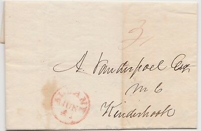 1836 Albany Ny Stampless Cover To Us Congressman Aaron Vanderpoel At Kinderhook