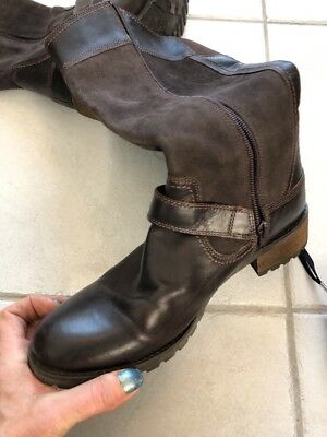 Timberland Women's Bethel Brown Leather & Suede  Boots, Size 10 $200