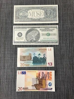 MUSE money concert memorabilia 2nd Law Tour Both Muso and US