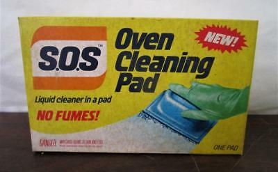 Vintage 1983 NOS Box of S.O.S. Oven Cleaning Soap Pad Sealed