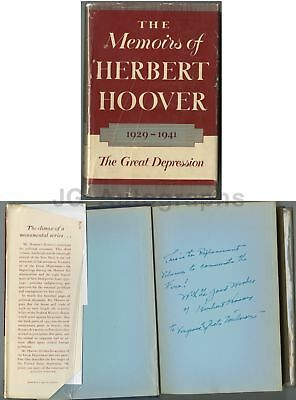 Herbert Hoover - 31st US President - Autographed 1952 Memoirs First Edition Book