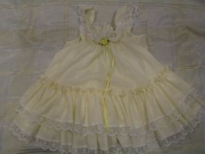 Vintage Bryan Toddler Yellow Dress Size 3T