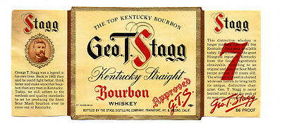 1930s GEORGE STAGG DISTILLING CO, FRANKFORT, KENTUCKY STAGG #7 WHISKEY LABEL