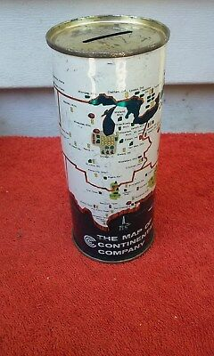 16Onz The Map Of Continental Straight Steel Bank Banks Beer Can Cans