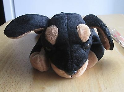 TY Beanie Babies DOBY Doberman dog 1996, Great condition