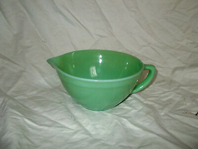 Large Fire King Jadeite Bater Bowl Cup w Spout Nice