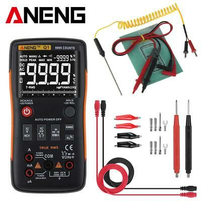 True-RMS Digital Multimeter 9999 Counts AC/DC Voltage Current Diode Meter Tester