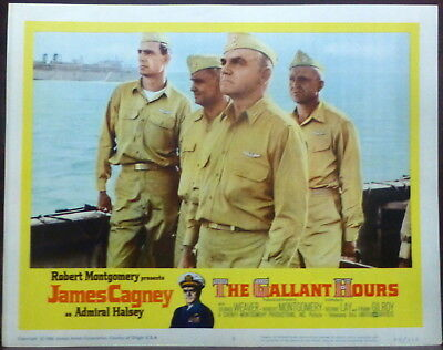 James Cagney LOT 7 Original 1960 Lobby Cards Gallant Hours WWII Navy