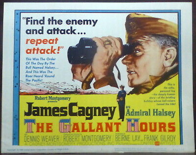 James Cagney Original 1960 Lobby Title Card Gallant Hours WWII Navy