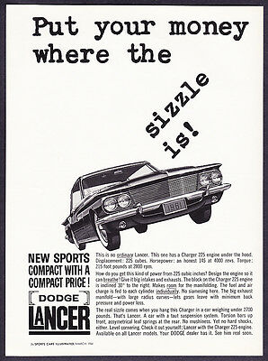 "1961 Dodge Lancer photo ""Where the Sizzle Is"" promo print ad"