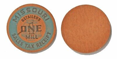 1936-1937 Depression Era Missouri Retailers One Mill Sales Tax Receipt Token