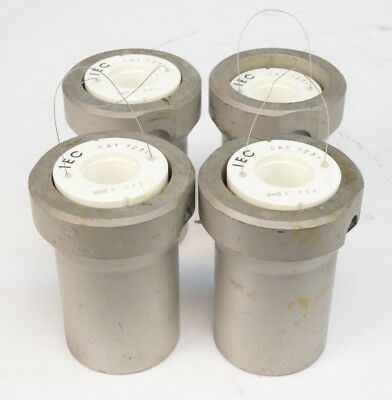 Lot of 4 IEC Cat. 384 Centrifuge Rotor Buckets With IEC Cat. 7231 Inserts