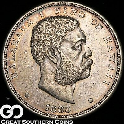 1883 Kingdom Of Hawaii Silver Dollar, Highly Demanded Series, Tough ** Free S/H!