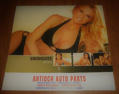 2011 Calendar - Swimsuits - Pin Up Girls - Antioch Auto Parts Illinois