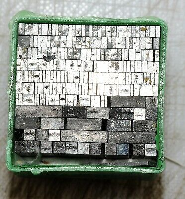 8pt Spacers  Metal  letterpress Type ADANA EIGHT FIVE  8 x 5 user