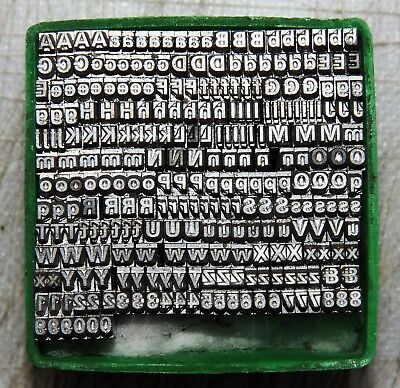 7pt Univers Metal  letterpress Type # ADANA EIGHT FIVE  8 x 5 user